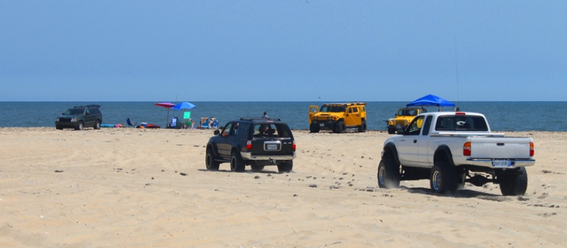 Beach Driving In The Outer Banks - Hatteras