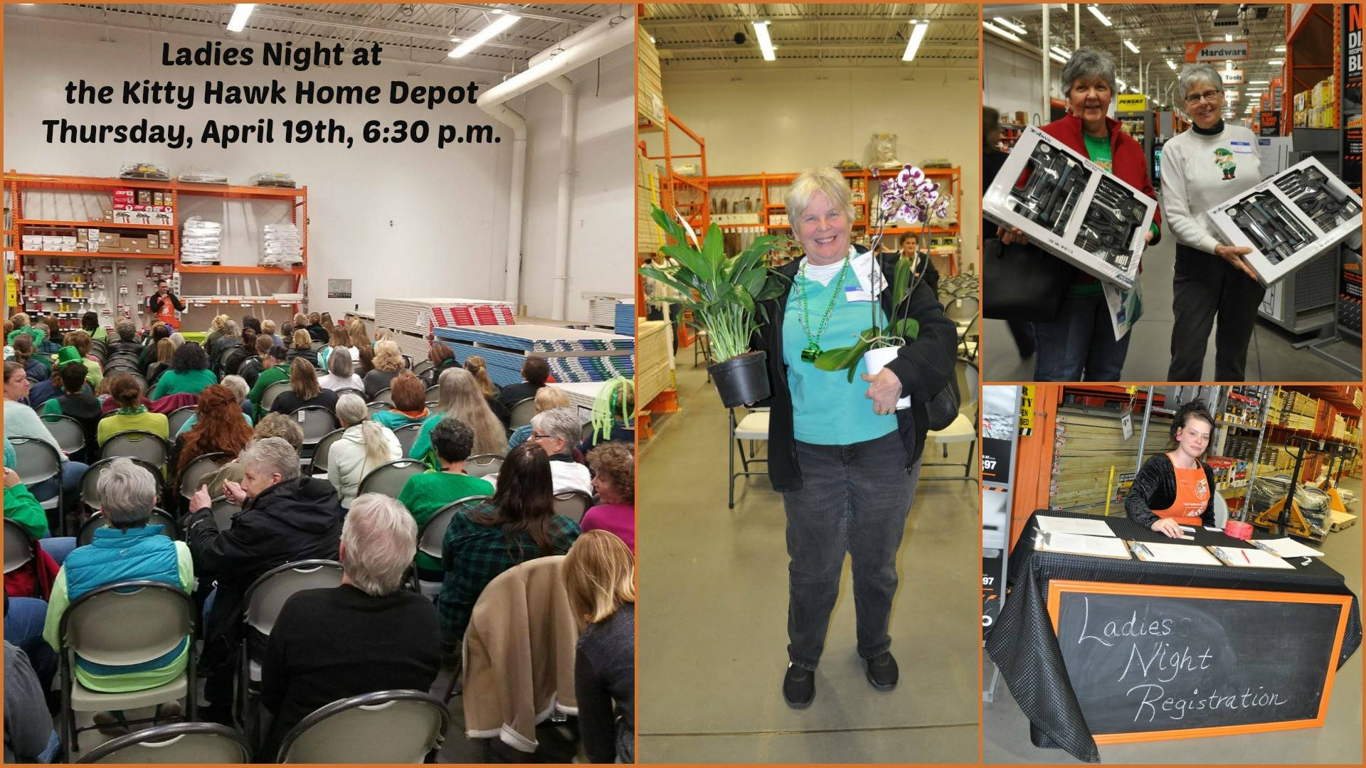 April 2018 Ladies Night at the Kitty Hawk Home Depot - Outer Banks ...